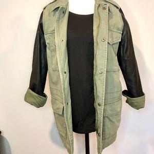 Jackets & Blazers - UO Ecote Utility Jacket w/ vegan leather sleeves